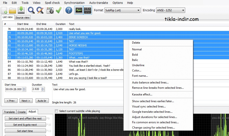 Subtitle Edit v3.5.9 Full İndir